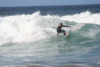 Surfing near Edenvale Bed & Breakfast, Narin & Portnoo, County Donegal, Ireland