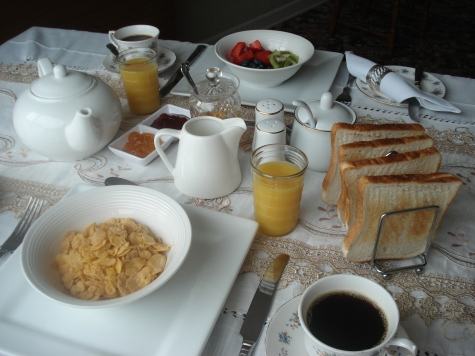 Continental Breakfast at Edenvale Bed and Breakfast, Narin and Portnoo. Co Donegal, Ireland