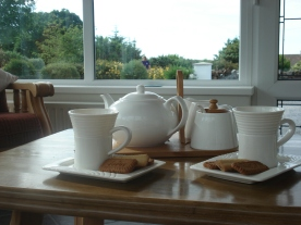 Welcome refreshments at Edenvale Bed and Breakfast, Narin & Portnoo, Co Donegal